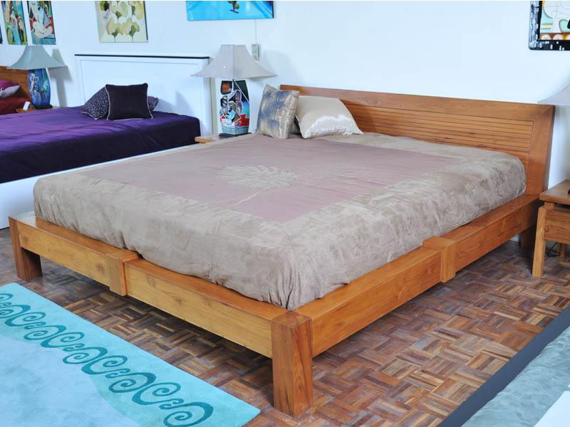 SHEIDO Teak Wood Bed