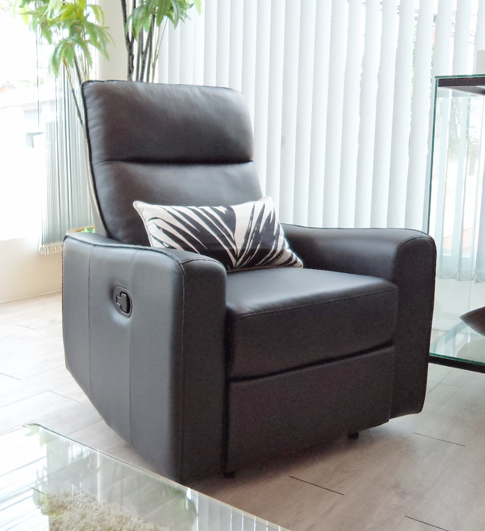 Parsley Recliner 1 seater Black