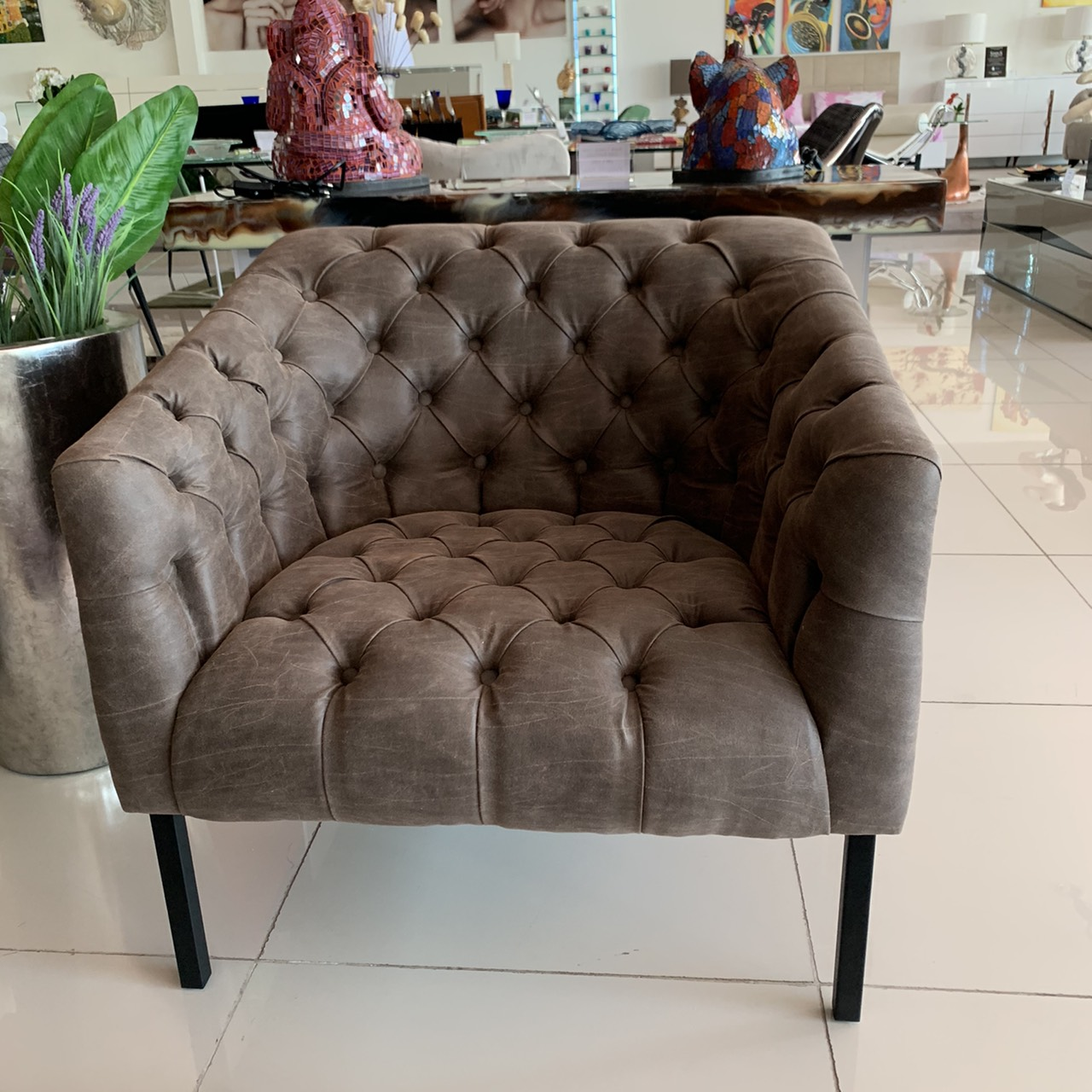 Limited LC chair uph in vintage americano