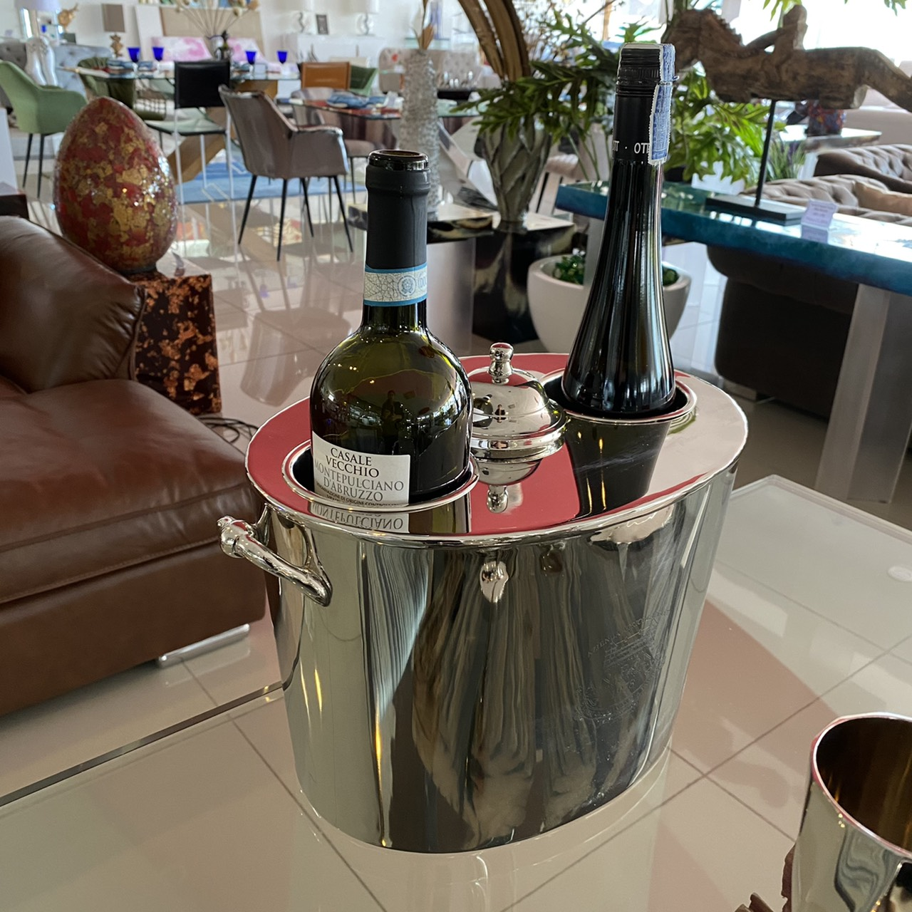 Wine cooler double hole