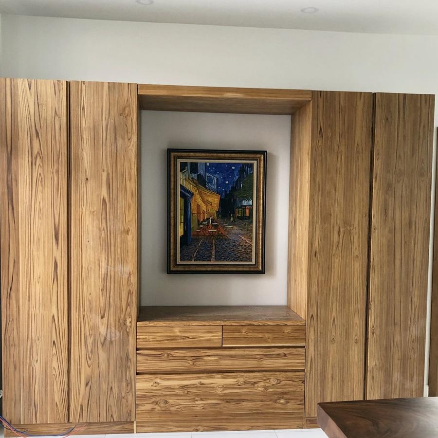 Teak wood wardrobe